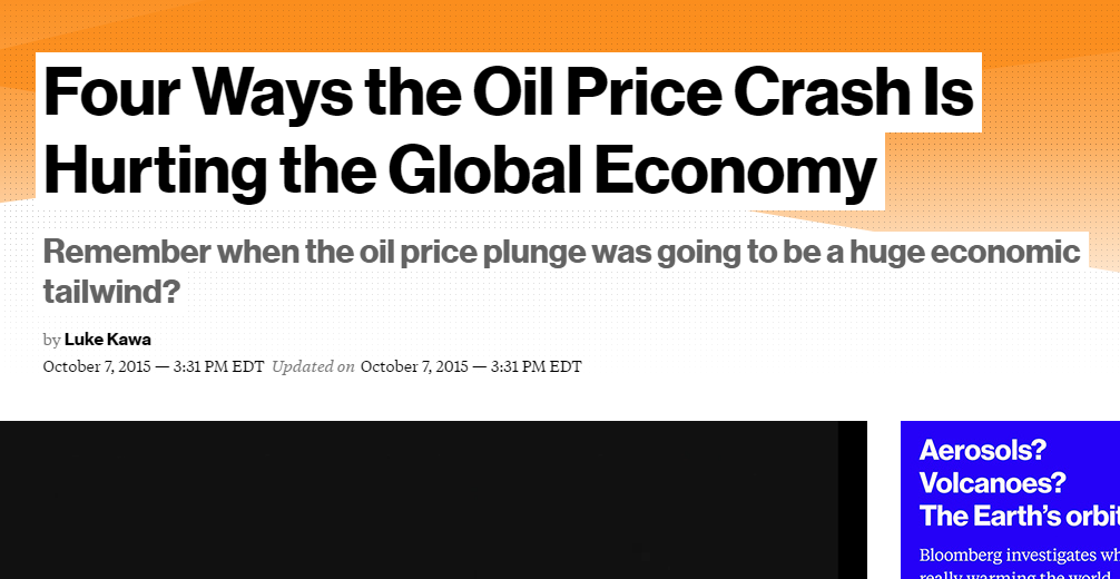 Four ways the oil price crash is hurting the economy