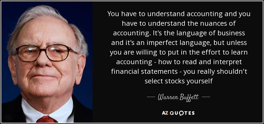 Accounting Quote - Warren Buffet